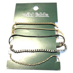 Wild fable set of 5 bracelet set NWT